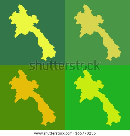 Abstract background illustration with map - Laos