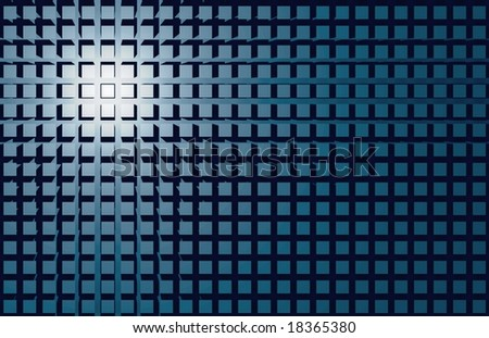 abstract background image, array of cubes - stock photo