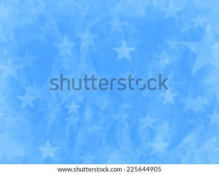 Abstract background. Image of blue stars - stock photo