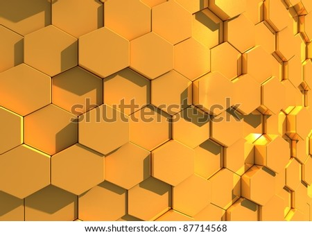 Abstract background image of gold tiles - stock photo