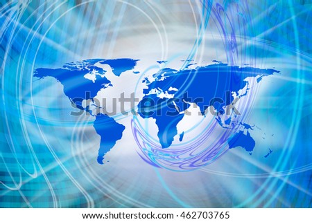 abstract background image of world map. Furnished NASA image used for this image