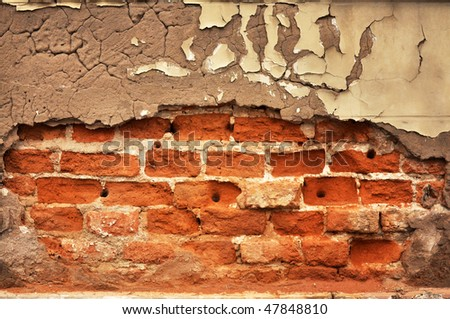 Abstract background image, texture of a brick wall - stock photo