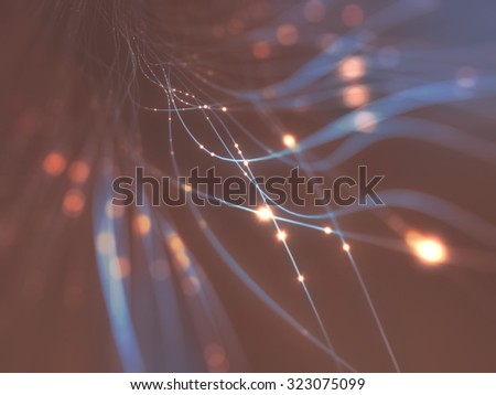 Abstract background in a concept of optical fiber. Clipping path included. - stock photo