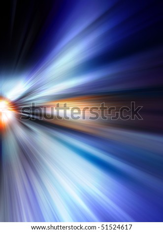 Abstract background in blue and orange tones.