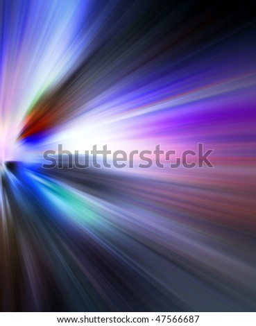 Abstract background in blue and purple tones.