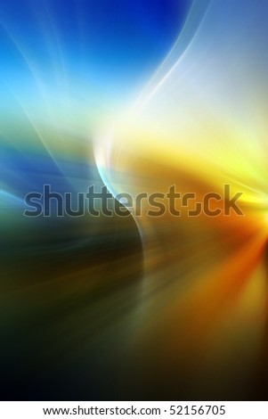 Abstract background in blue, orange and yellow tones. - stock photo