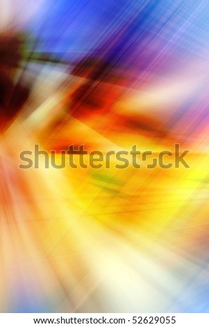 Abstract background in blue, orange, yellow and purple tones. - stock photo