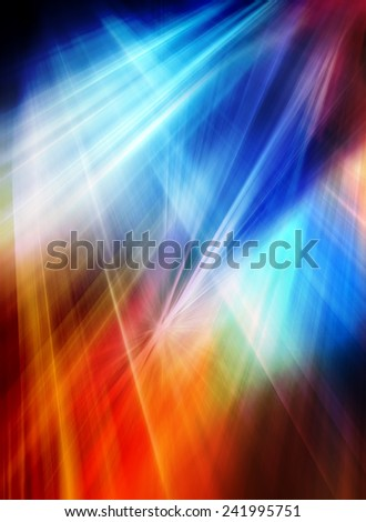 Abstract background in blue, red and orange colors. - stock photo