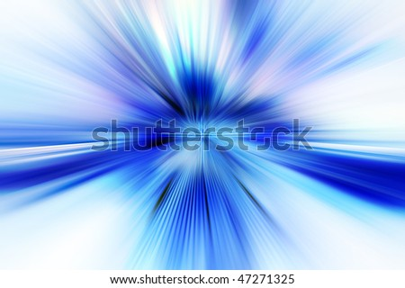 Abstract background in blue tones representing explosion or burst of energy. - stock photo