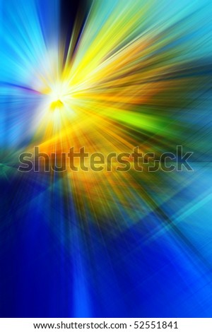 Abstract background in blue, yellow and orange tones. - stock photo