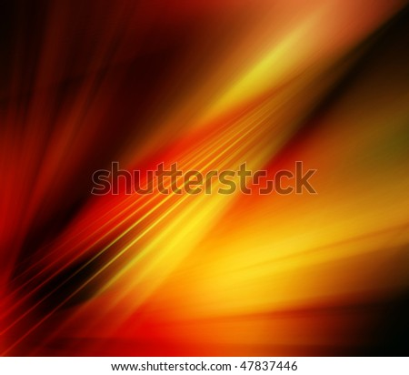 Abstract background in orange, yellow and red tones.