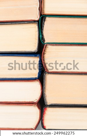Abstract background is from old books stacked roots to each other - stock photo