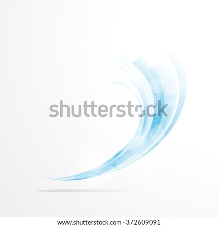 abstract background. Isolated wavy lines on white background. - stock photo