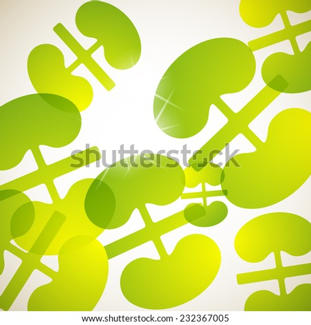 abstract background: kidneys - stock photo