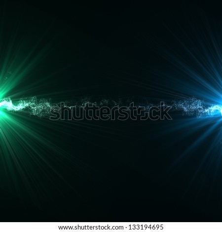 Abstract background lighting flare special effect