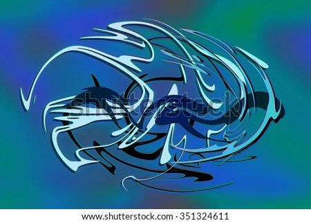 abstract background line, color graffiti   - stock photo