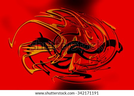 abstract background line, color graffiti  and glass effect. - stock photo