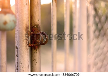 Abstract background - loop for locking gates in vintage - stock photo