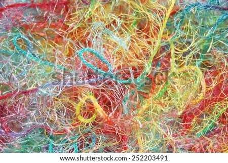 Abstract background made from multicolored yarn