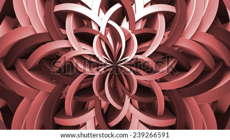 abstract background made of bended and twisted element - stock photo