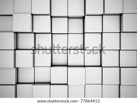 Abstract background made of 3d cubes - stock photo