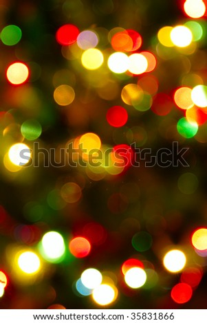 abstract background made of defocused multicolored circles of light