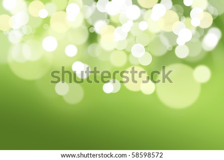 Abstract background made of green lights out of focus. - stock photo