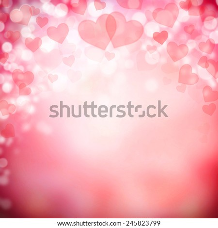 Abstract background made of hearts symbols - stock photo