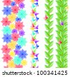 Abstract background made of pink paper flowers - stock vector
