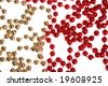 Abstract background made of spheres - stock photo
