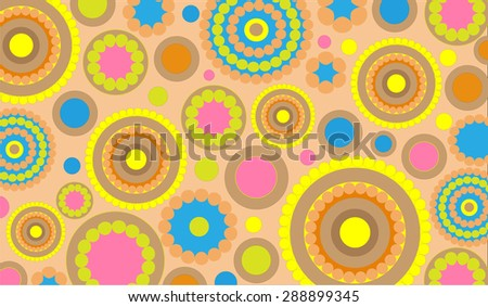 abstract background made up of colorful circles of different sizes