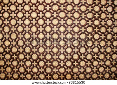 Abstract Background (Medieval Moorish Ceiling at Plaza Espana, Sevilla)