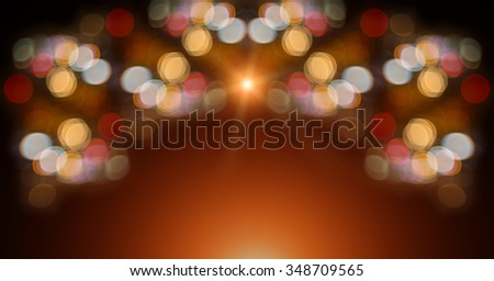 Abstract background. Merry christmas and Happy New Year. Golden light. Christmas and New Year bokeh. Blinking background. Copy space. Abstract circular bokeh background of Christmas light. - stock photo