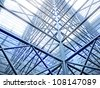 Abstract background. Metal construction - stock photo