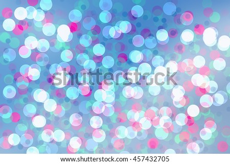abstract background mix blue color bokeh circles - stock photo