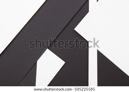 Abstract Background. Modern Black and White Material Design