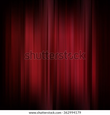 Abstract background. Motion dark red vertical lines. Raster classic backdrop. Red curtains on theater or cinema stage - stock photo