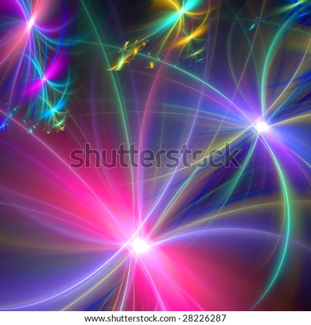 Abstract background. Multicolor palette. Raster fractal graphics. - stock photo