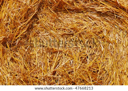 Abstract background of a tightly packed hay bale - stock photo