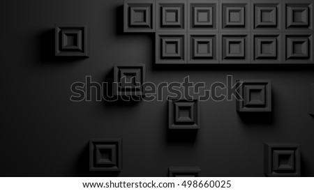 abstract background of beveled cubes in a 3d illustration rendering