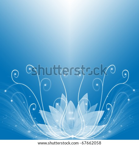 Abstract background of blue dream - stock photo