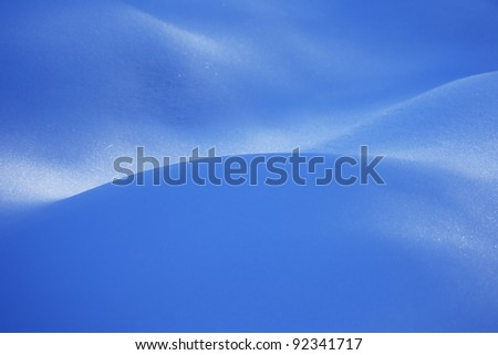Abstract background of blue snow