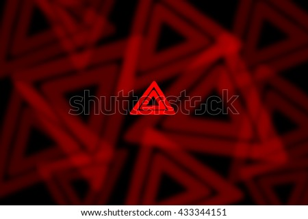 abstract background of Car emergency button light on black background - stock photo