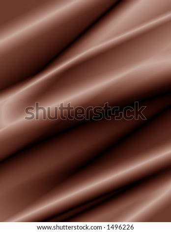 Abstract background of chocolate colored folds. - stock photo