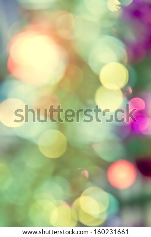 Abstract background of Christmas tree lights - stock photo