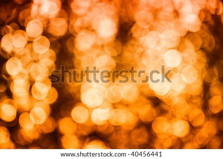 Abstract background of christmas yellow lights