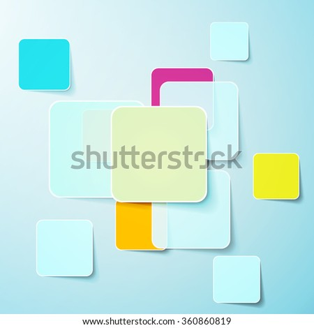 Abstract background of color boxes. Template for a text illustration - stock photo