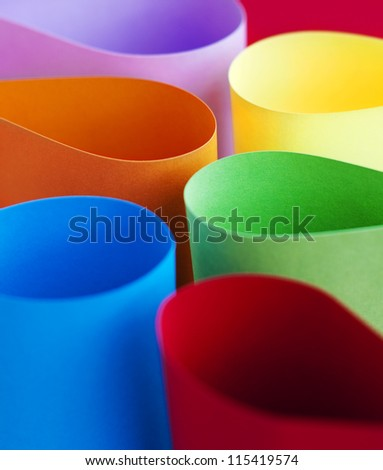 Abstract background of color paper