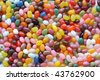 abstract background of colorful jelly beans - stock photo