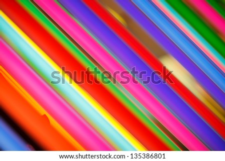 Abstract background of colorful neon lights.